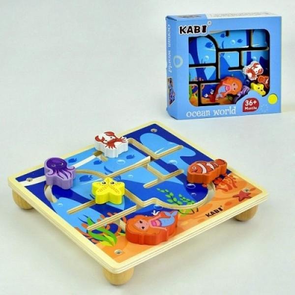 Деревянная игра-лабиринт, C35974