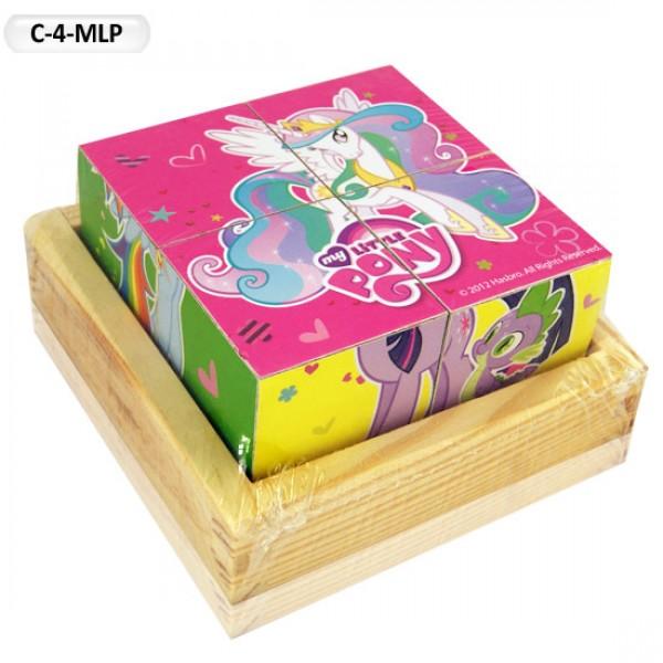"""Деревянные Кубики """"My little pony"""", C-4-MLP"""