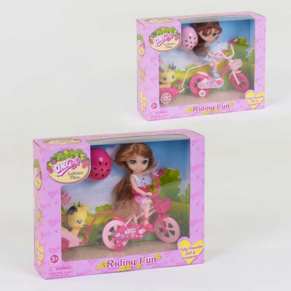Кукла с велосипедом, 57002