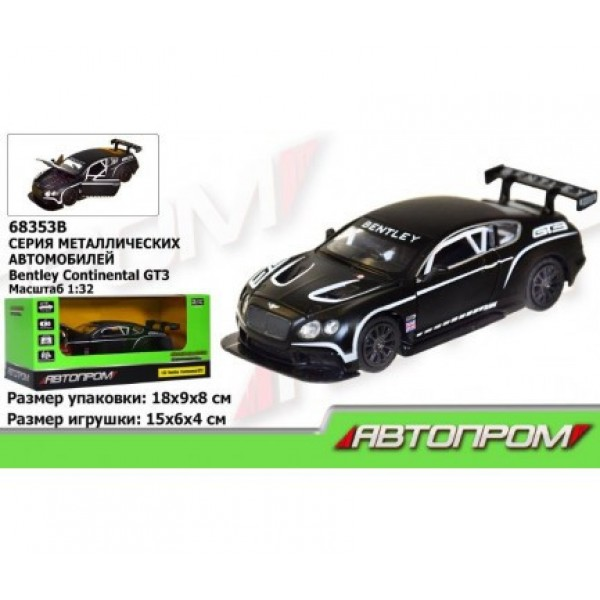 "Машинка ""Автопром"", ""Bentley  Continental GT3"", 68353В"