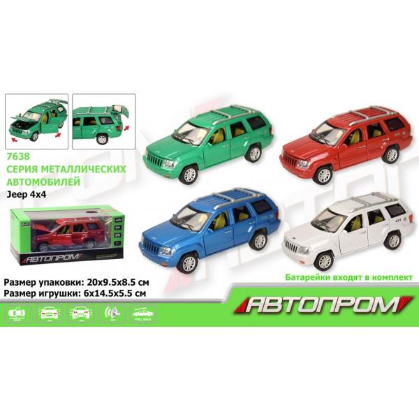 "Машинка ""Автопром"", ""Jeep 4x4"", 7638"