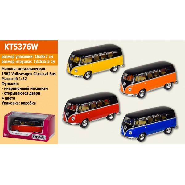 """Машинка """"Kinsmart"""", 1962 Volkswagen Classical Bus"""", KT5376W"""