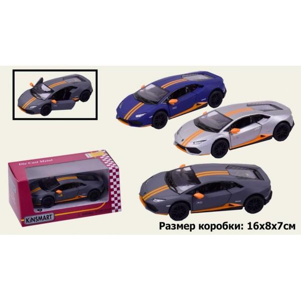 "Машинка ""Kinsmart"", ""Lamborghini Huracan LP610-4 Avio matte"", KT5401W"