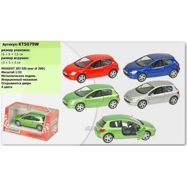 """Машинка """"Kinsmart"""", """"Peugeot 307 XS"""", KT5079W"""