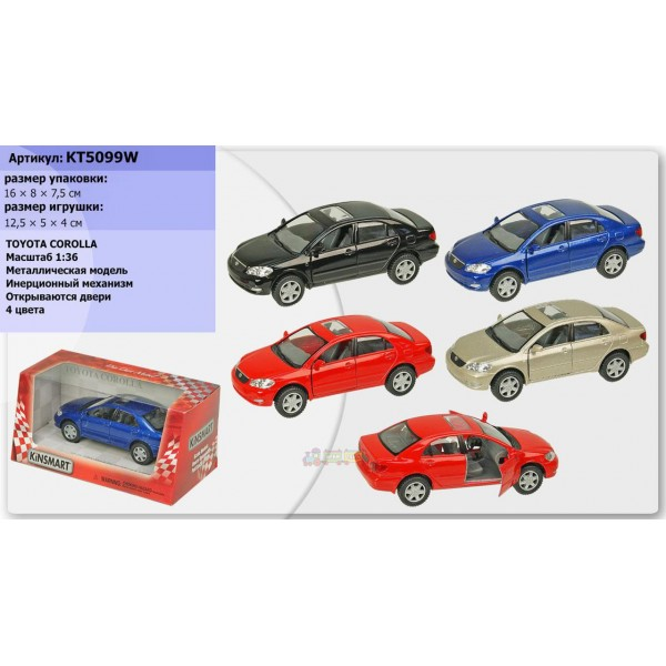 """Машинка """"Kinsmart"""", """"Toyota Corolla"""", KT5099W"""