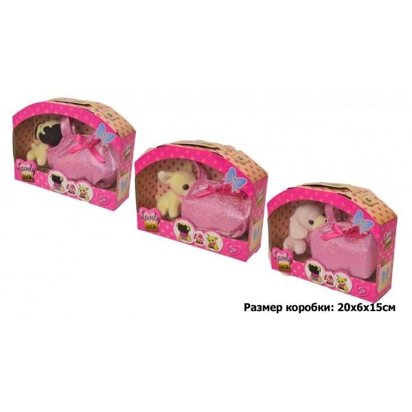 """Мягкая игрушка """"6 видов собачек с сумочками"""", 89006"""