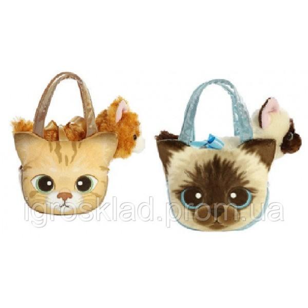 """Мягкая игрушка """"Кошечка в сумочке"""", CLG17054"""