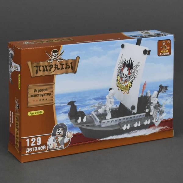 """AUSINI 27404 """"Корабль пиратов"""" (72), 125 дет, уровень сложности **, в коробке, 22*15*4.5 см"""