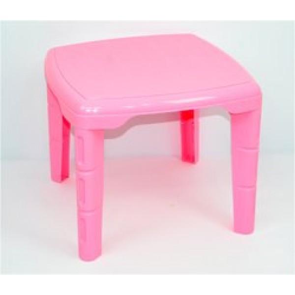 """Стол детский квадратный (10) - цвет розовый """"K-PLAST"""""""
