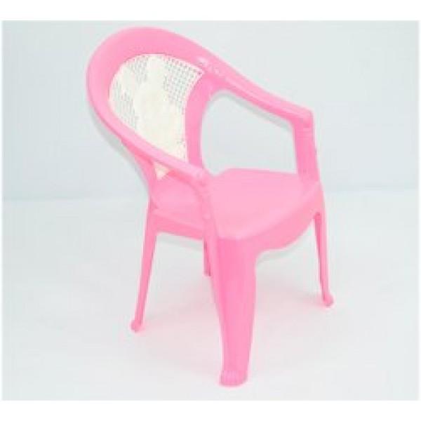 """Кресло детское №1 (10) - цвет розовый """"K-PLAST"""""""