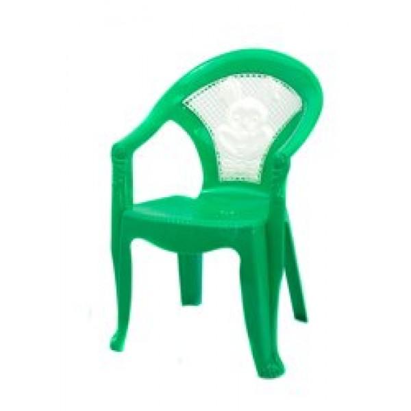 """Кресло детское №1 (10) - цвет зеленый """"K-PLAST"""""""
