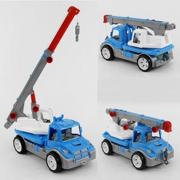 """Машина """"Автокран"""" 3893 (4) цвет синий """"ТЕХНОК"""" в коробке"""