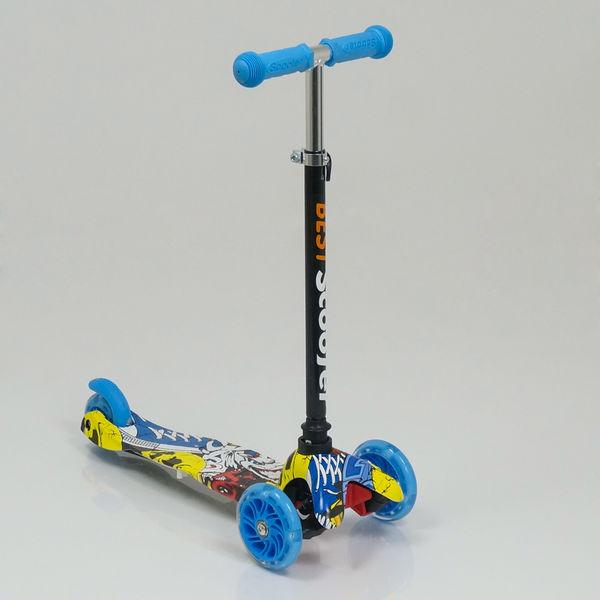 """Самокат 1292 MINI """"Best Scooter"""" (8) 3 колеса свет, PU, трубка руля алюминиевая, в коробке"""