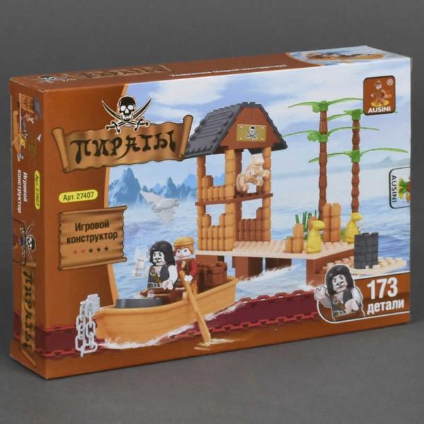 """AUSINI 27407 """"Пираты"""" (48) """"Пиратский форт"""", 173 дет, в коробке"""