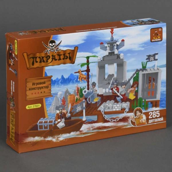 """AUSINI 27601 """"Пираты"""" (12) """"Остров пиратов"""", 285 дет, в коробке"""
