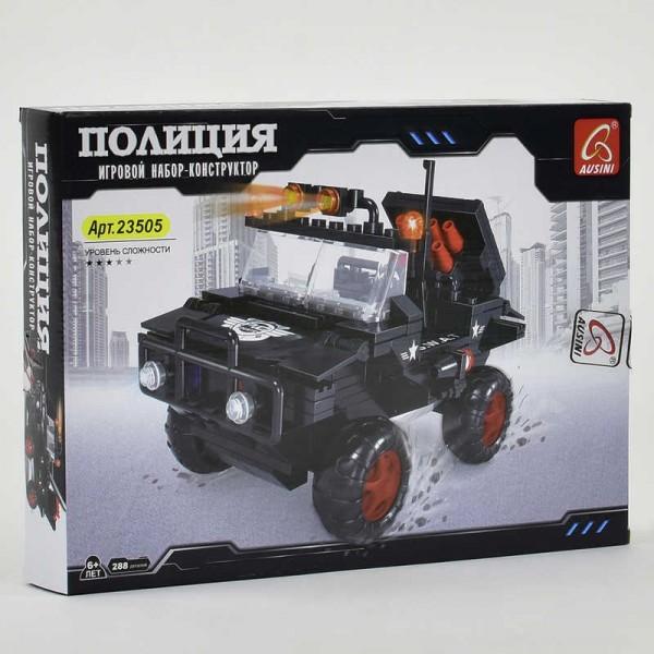 """AUSINI 23505 (24) """"Полиция. Машина с ракетной установкой"""" 288 деталей, в коробке"""