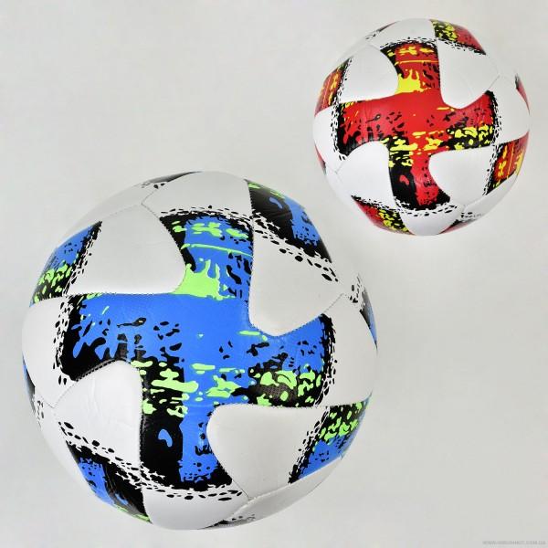 Мяч футбольный F 21968 (50) 2 цвета, 400 амм, материал TPU