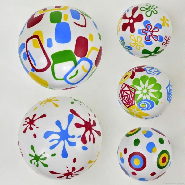 Мяч резиновый F 21996 (400) размер 9``, 60 амм, 5 видов