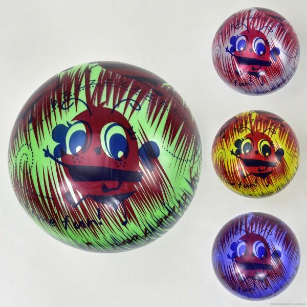 """Мяч резиновый F 21998 (400) """"Пчёлки"""", размер 9``, 60 амм, 4 цвета"""