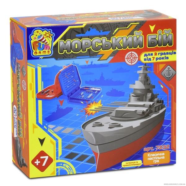 """Игра """"Морской Бой"""" (7232) в коробке """"FUN GAME"""""""