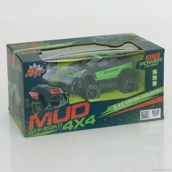 Машина 333 MUD 23 B (16) 2 цвета, р/у, аккум, в коробке