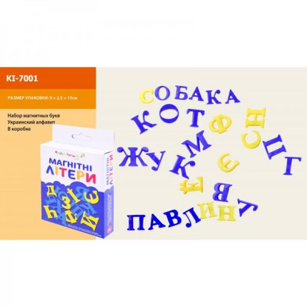 """Буквы магнитные """"Украинский алфавит"""" KI-7001"""