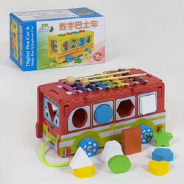 Деревянная игра Автобус С 39261 (18)