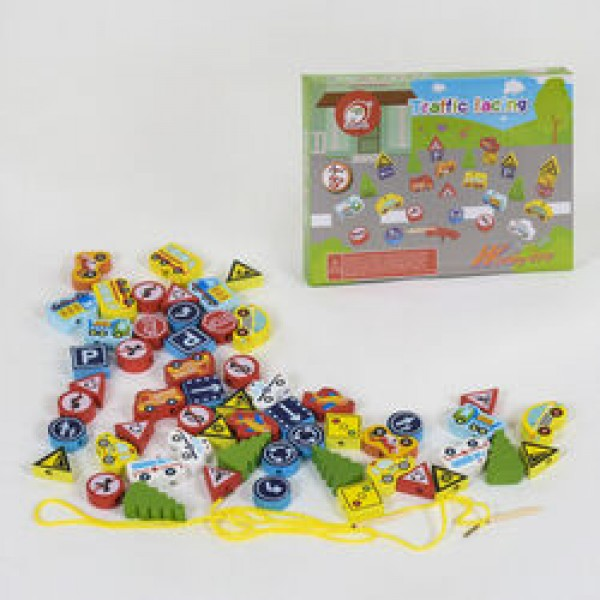 Деревянная игра Шнуровка С 39255 (24)