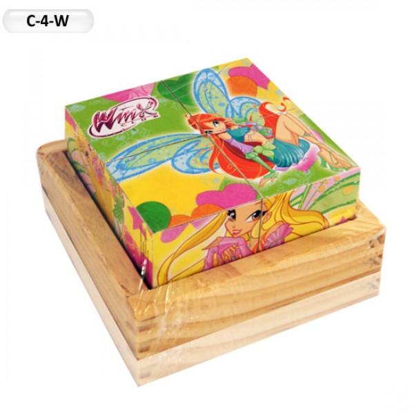 Деревянные Кубики C-4-W