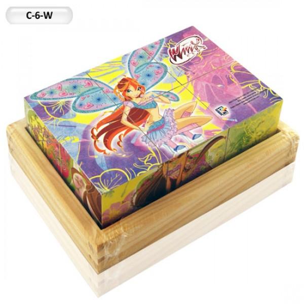 "Деревянные Кубики ""Winx"" C-6-W"
