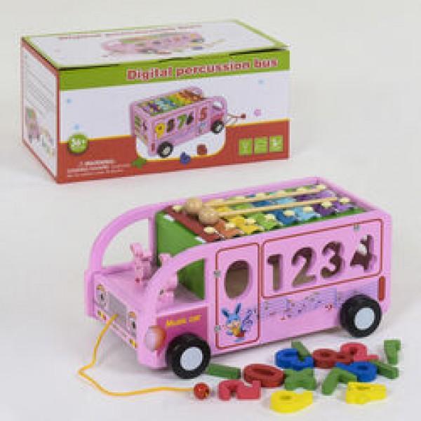Деревянный Автобус с ксилофоном С 39219 (24)