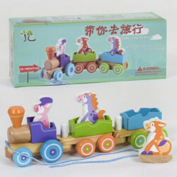 Деревянный поезд-каталка С 39270 (24)