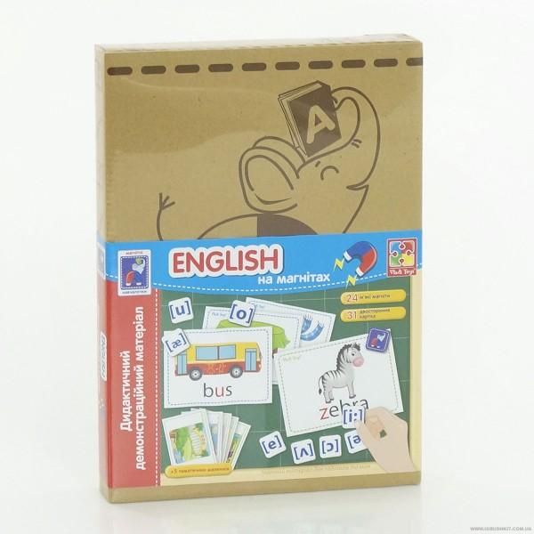 "Дидактический материал с магнитами ""English"" - (VT 3701-08)"