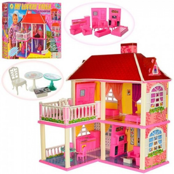 "Дом для куклы ""MY LOVELY VILLA"", 2-х этажный, с мебелью 6980"