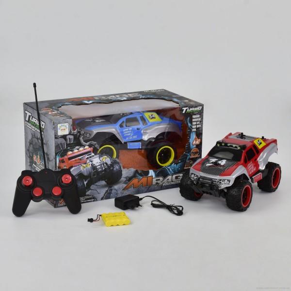 Джип 1333-3 А (12) 2 цвета, р/у, на аккум. 4.8V, резиновые колеса, в коробке