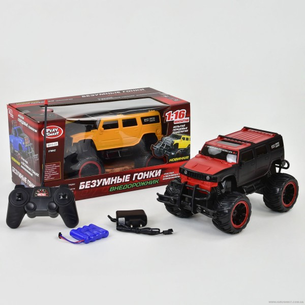 "Джип 9810-01-02 (18) ""Play Smart"" 2 цвета, р/у, на аккум. 4.8V, в коробке"