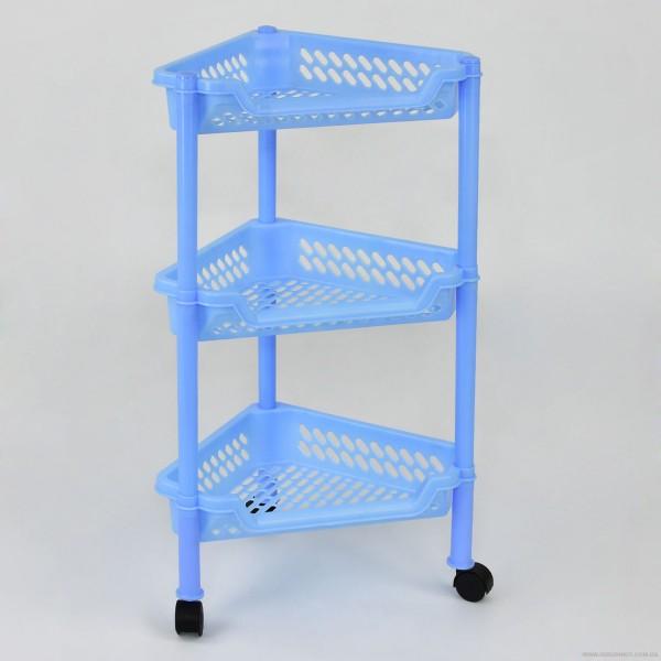 """Этажерка угловая (5) - цвт голубой """"K-PLAST"""""""