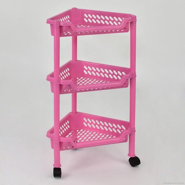 "Этажерка угловая (5) - цвт розовый ""K-PLAST"""