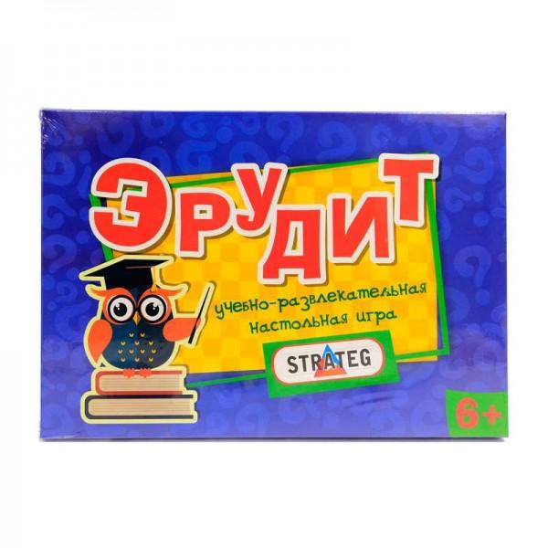 "Игра наст. мал. ""Эрудит"" 249 рус. (20) ""STRATEG"""