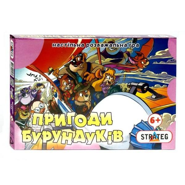 """Игра наст. мал. """"Приключения бурундуков"""" 133 укр. (20) """"STRATEG"""""""