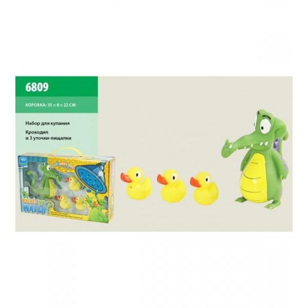 Игрушка для ванной крокодил с утятами 6809