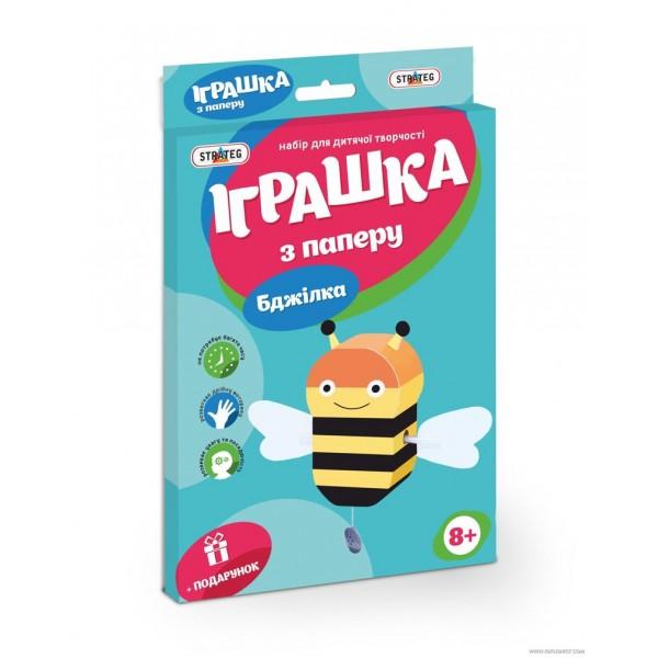 """Игрушка из бумаги """"Пчелка"""" 202-08 (32) """"STRATEG"""""""