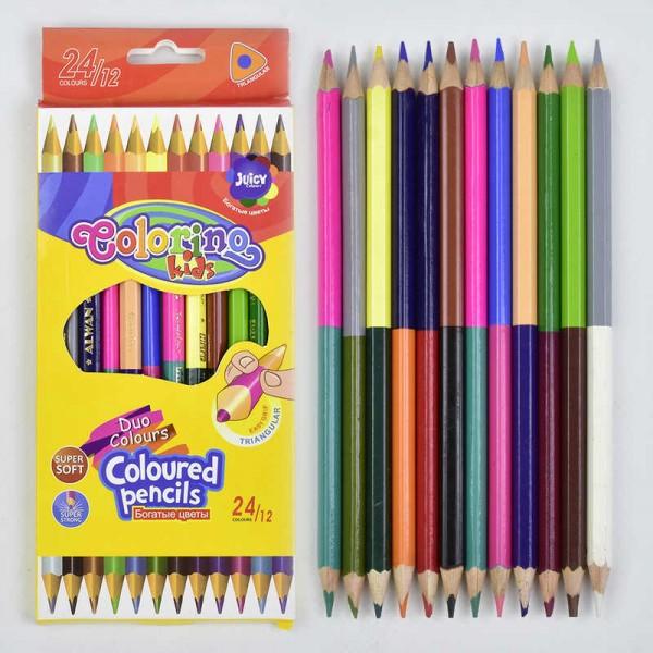 Карандаши цветные двухсторонние 0700 (360)