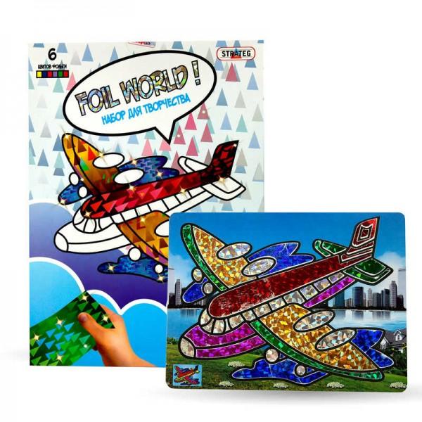 """Картинка из фольги """"Самолет"""" 700-2 (24) ``STRATEG"""""""