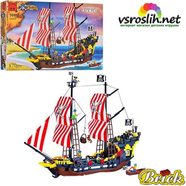 """Конструктор """"Brick"""" """"Пиратский корабль"""" 870 дет. 308 (298783)"""