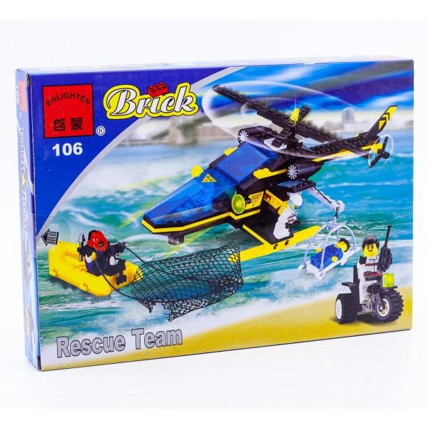 """Конструктор """"Brick"""" """"Полиция"""" вертолет 106"""