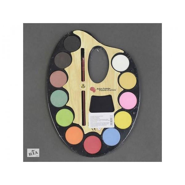 Краски акварельные 12 цветов 01437