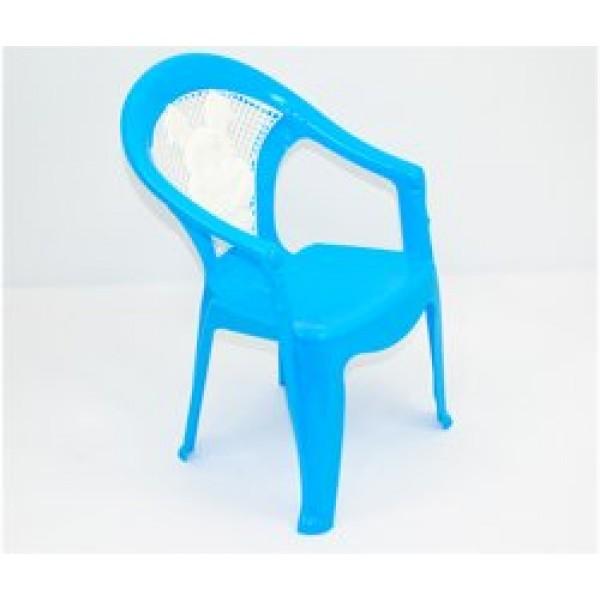 """Кресло детское №1 (10) - цвет голубой """"K-PLAST"""""""