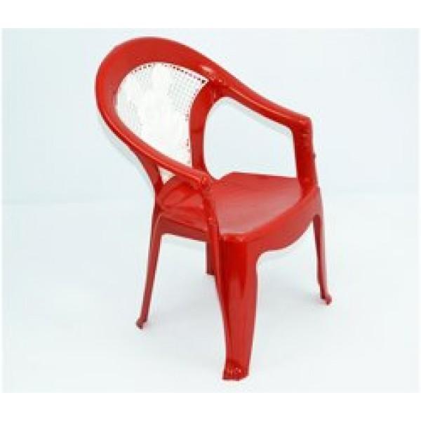 """Кресло детское №1 (10) - цвет темно-красный """"K-PLAST"""""""