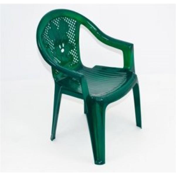 """Кресло детское №2 (10) - цвет темно-зеленый """"K-PLAST"""""""